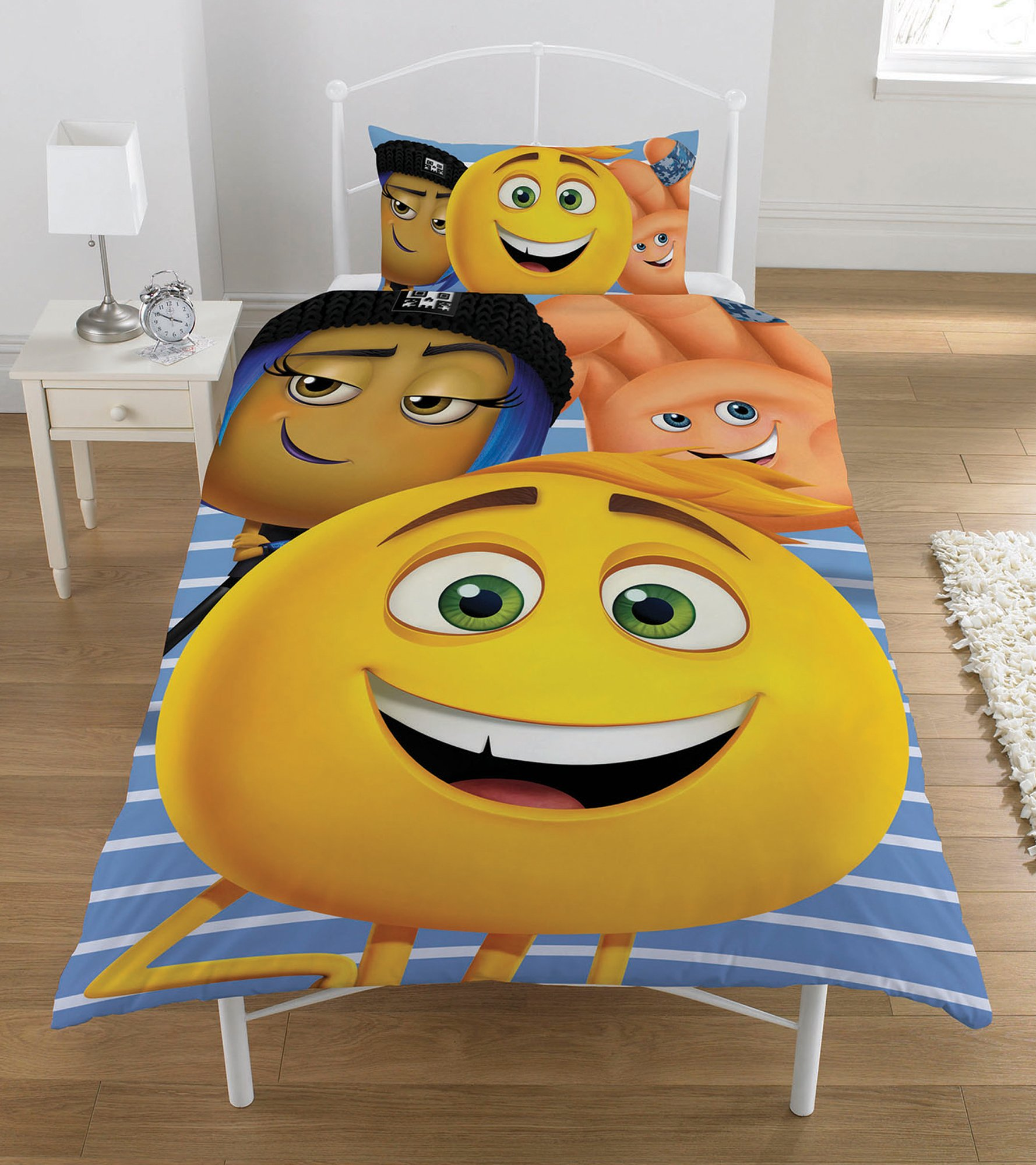 The Emoji 'Movie' Reversible Panel Single Bed Duvet Quilt Cover Set