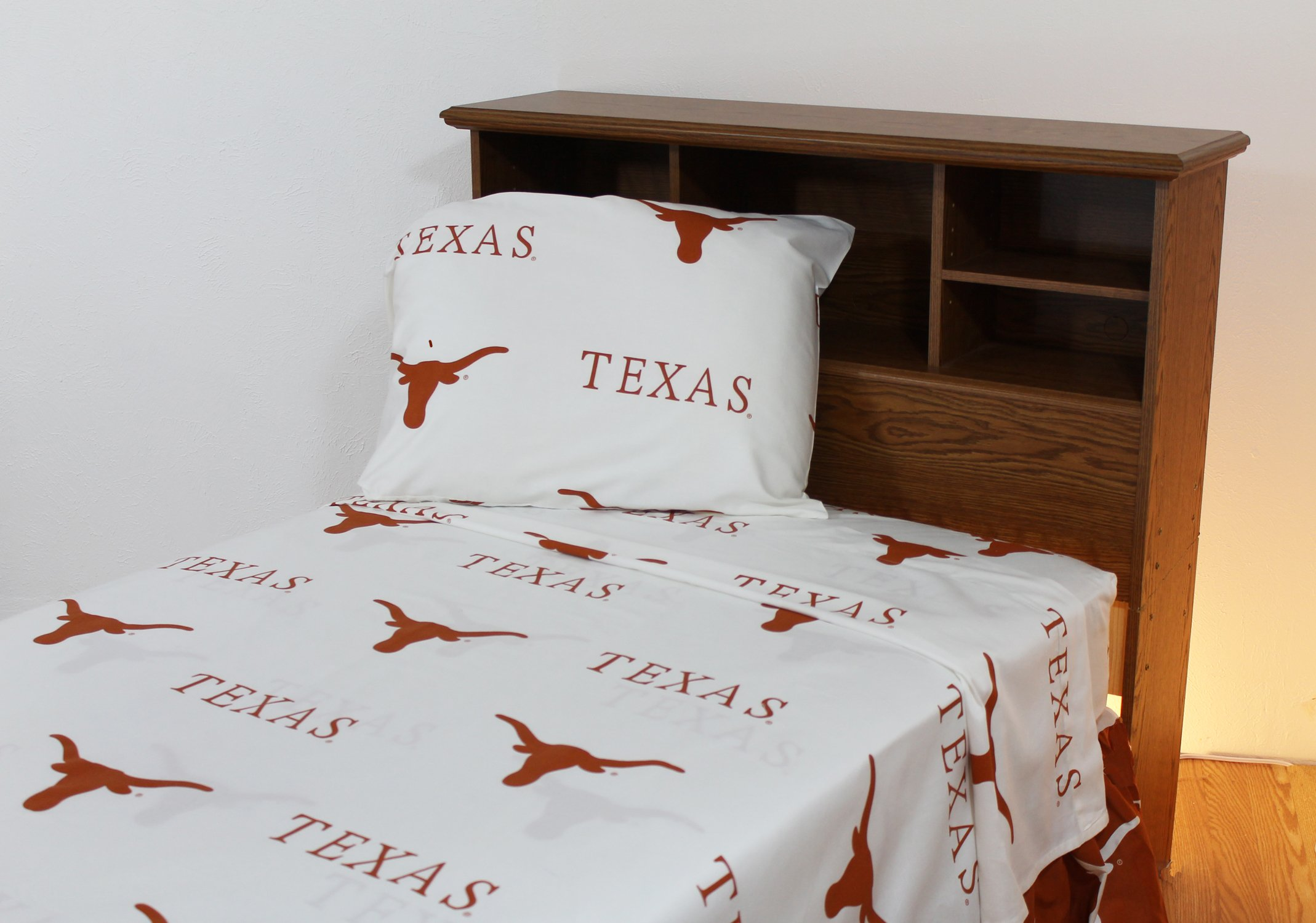 College Covers Texas Longhorns Printed Sheet Set - Full - White by College Covers