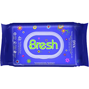 mini Body Wipes for Women by BRESH - Feminine Wipes - Hypoallergenic and pH Balanced Wet Wipes - Ideal after Sports