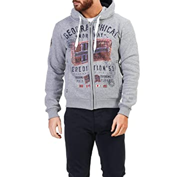 Geographical Norway Filliam_man Sudaderas Hombre Gris S: Amazon.es: Ropa y accesorios