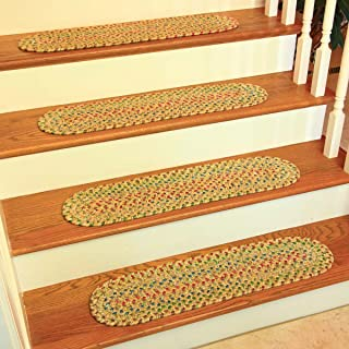 product image for Rhody Rug SO55A008X028-13 Sophia Multi Braided Stair Tread44; Sand Natural - Set of 13