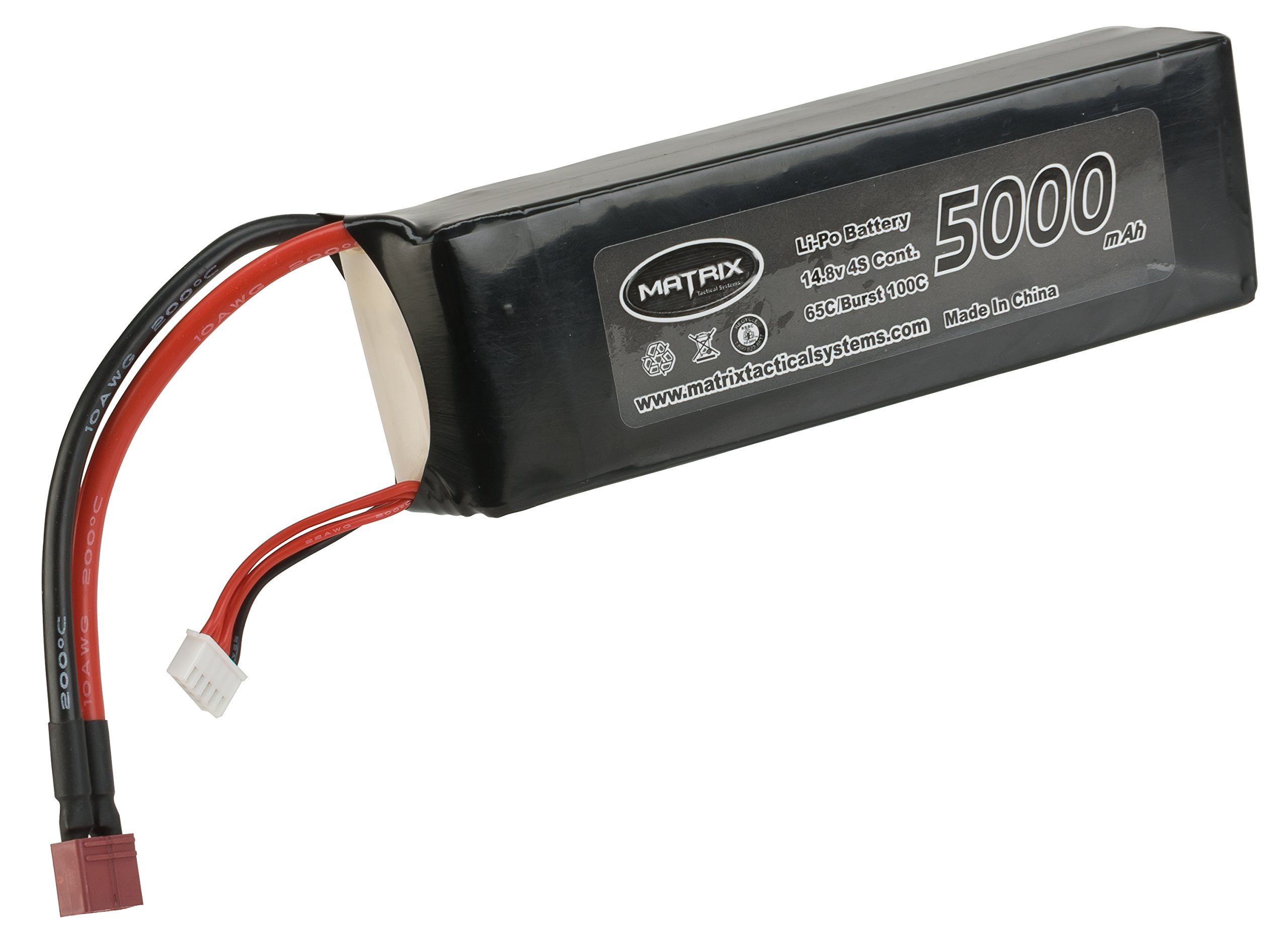 Evike - Matrix 14.8V 5000 mAh 65C ''Purpose Built'' LiPo (Lithium Polymer) Battery - Standard Deans Connector by Evike