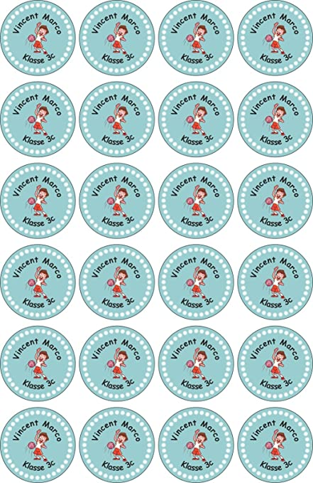 JINTORA etiquetas personalizadas para nombre- 40x40mm - 097 - Basketball - 24 piezas para niños, escuela y jardín de infancia - Pegatinas Personalizadas: Amazon.es: Oficina y papelería