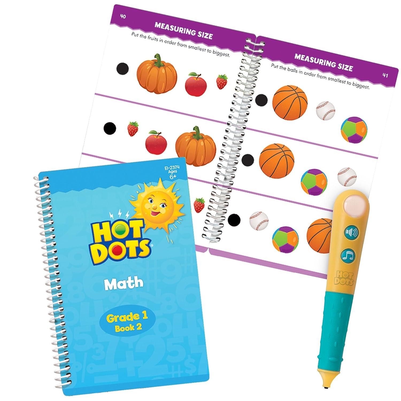 Amazon.com : Educational Insights Hot Dots Let\'s Master Grade 1 Math ...