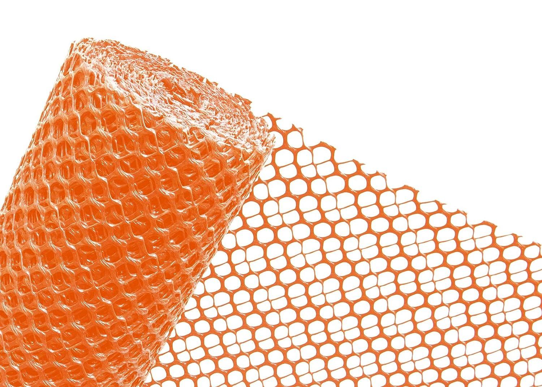 Schneefanggitter 1,2m Höhe x 25m Schneezaun Schutzzaun in orange