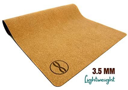 TheRelaxBrand Heala Premium Cork Yoga Mat with Strap | Size: 68x24, 3.5mm & 5mm Extra Thick | Hot Yoga Mat | Meditation Mat | Safe, Eco-Friendly, ...