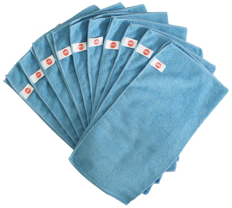 Harbour Housewares Microfibre Cloths - Pack of 10 - Large 40 x 40cm ...
