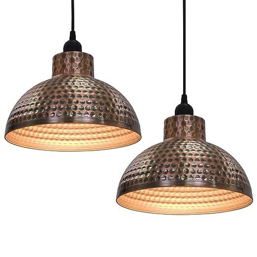 vidaXL 2x Lámparas de Techo Colgantes Estilo Indutrial Metal ...