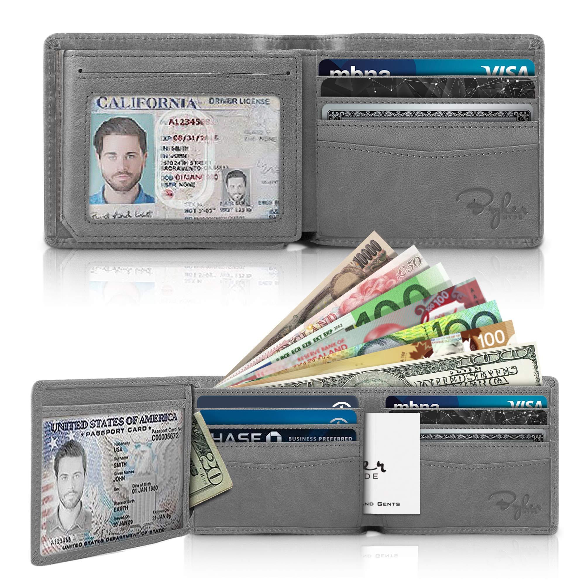 Bryker Hyde Executive Bifold Side Flip 2 ID Window RFID Blocking Finest Leather