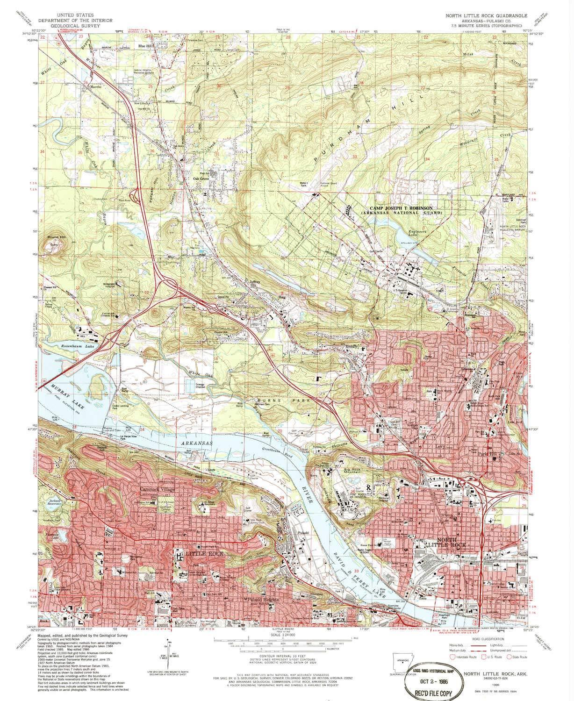 Amazon.com : YellowMaps North Little Rock AR topo map, 1 ...