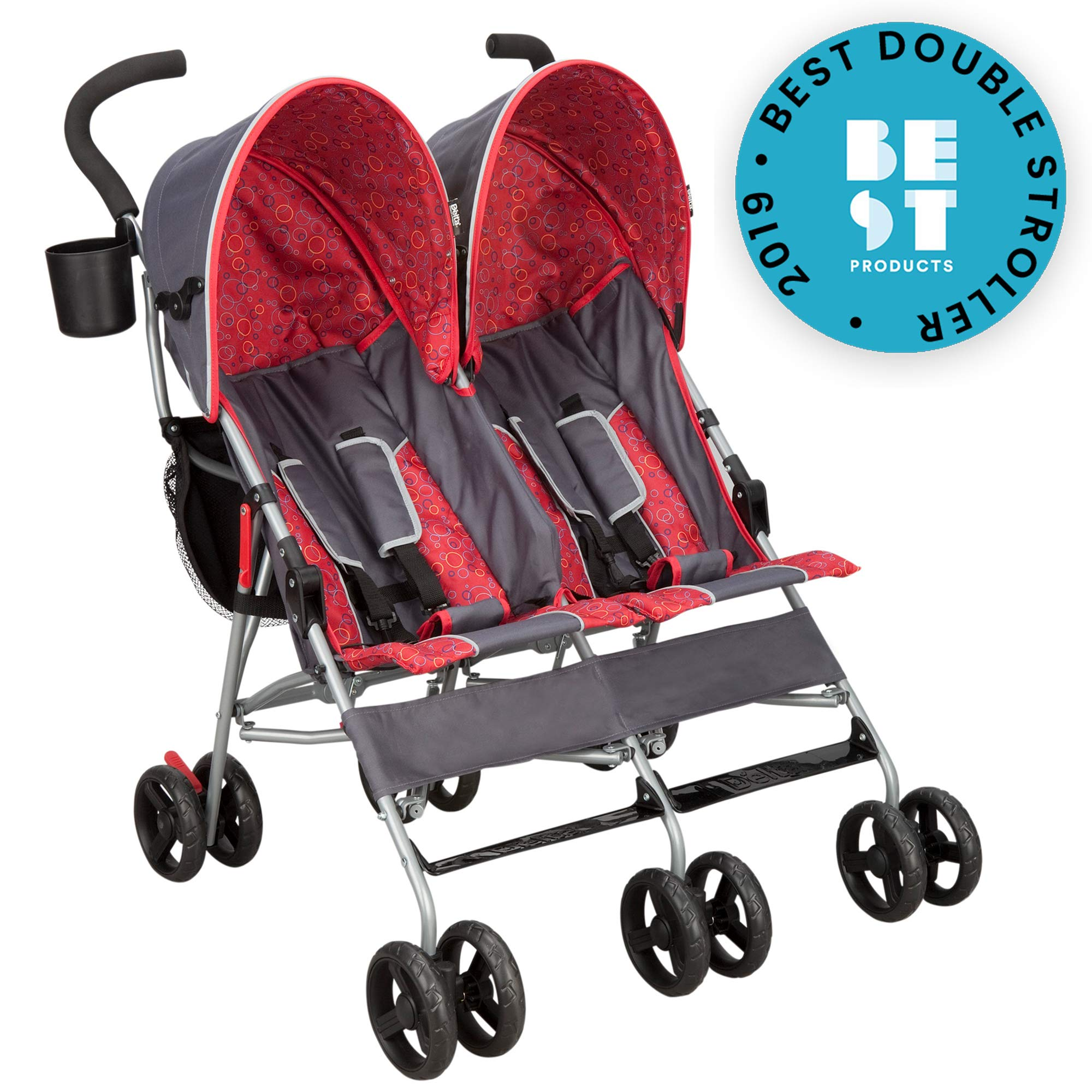 Delta Children City Street LX Side by Side Stroller, Grey by Delta Children