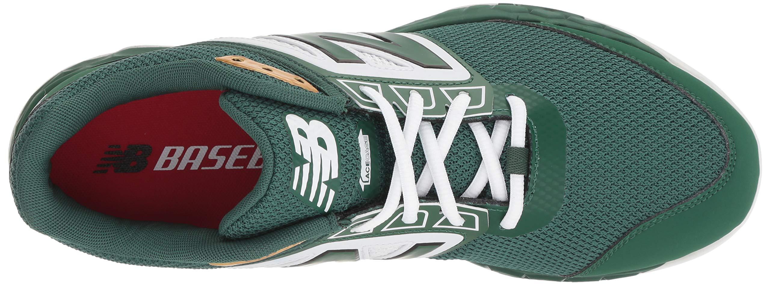 New Balance Men's 3000v4 Turf Baseball Shoe, Green/White, 5 D US by New Balance (Image #8)