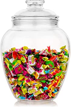 Amazon Com Modern Innovations 128 Ounce Candy Cookie Jar With Lid Premium Acrylic Clear Apothecary Jar Wedding Home Decor Centerpiece Cookie Candy Buffet Decorative Kitchen Storage Jar Cookie Jars