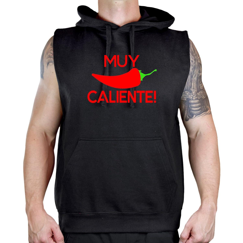 Mens Muy Caliente Red Chile Pepper V377 Sleeveless Vest Hoodie