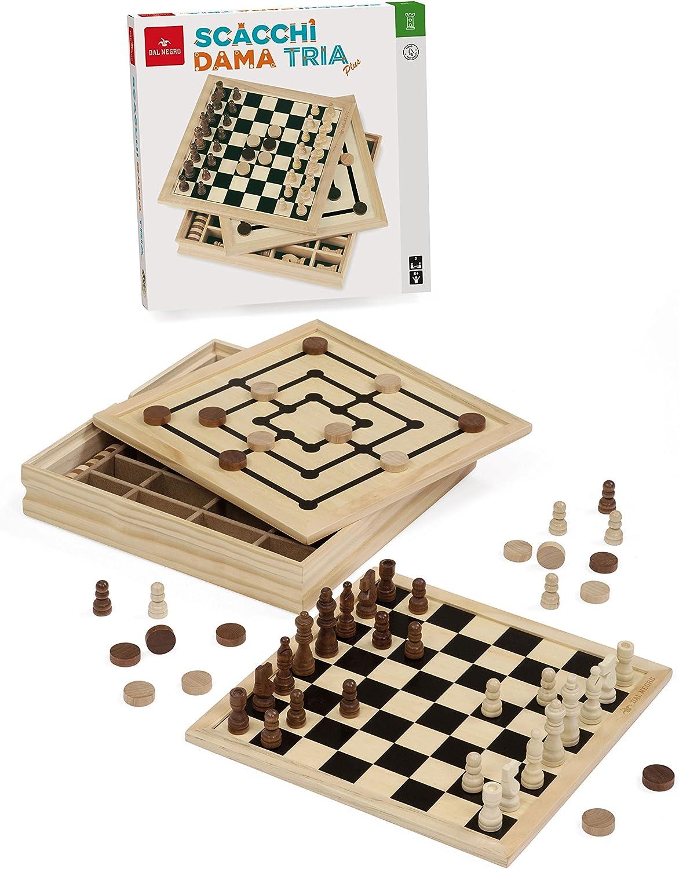 Dal Negro 54229 - Set de 3 Juegos de Mesa en 1 (30 cm): Amazon.es: Juguetes y juegos