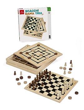 Dal Negro 54229 - Set de 3 Juegos de Mesa en 1 (30 cm): Amazon.es ...