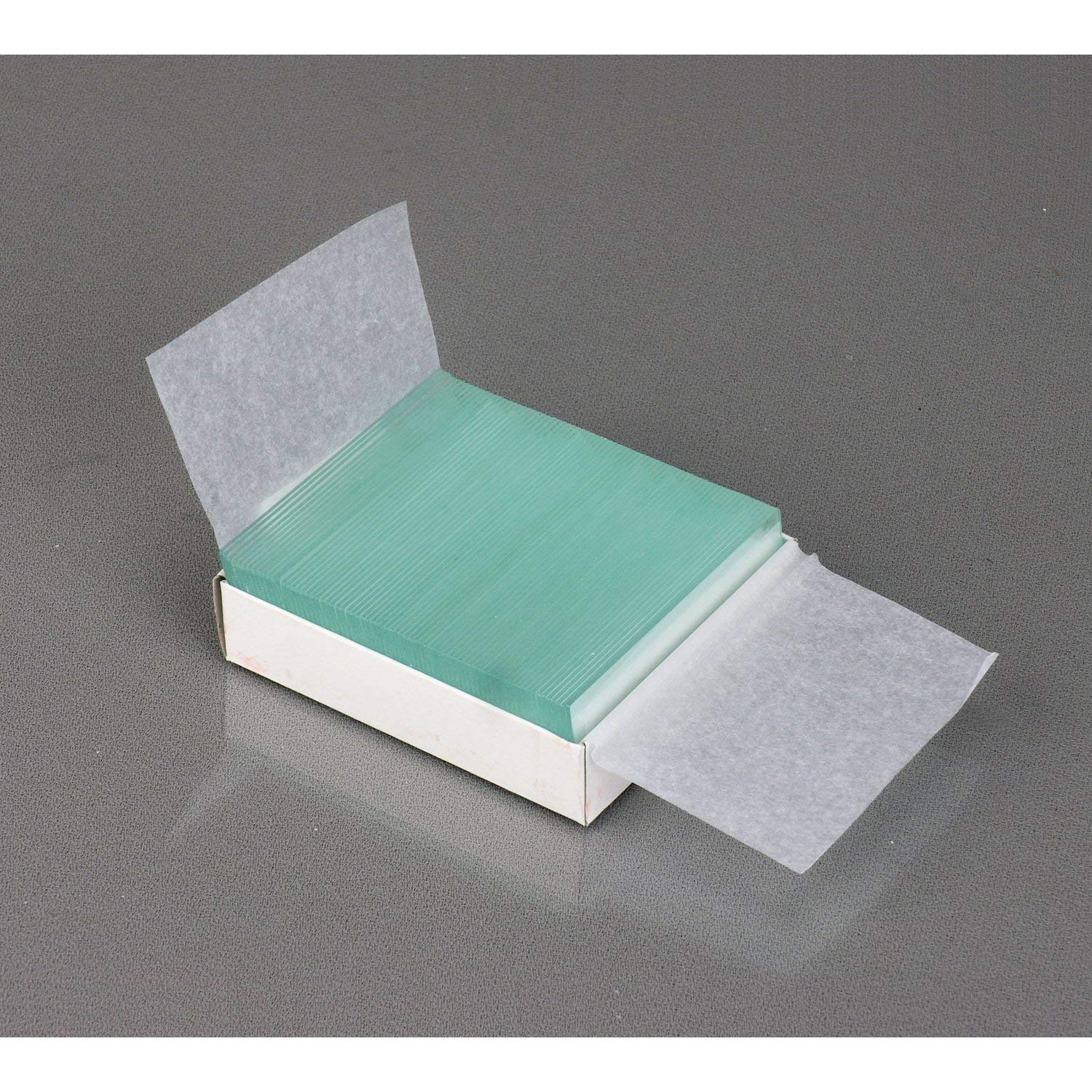 AmScope BS-50P-100S-22 Pre-Cleaned Blank Ground Edge Glass Microscope Slides and 100pc Pre-Cleaned Square Glass Cover Slips Coverslips Тhrее Pаck