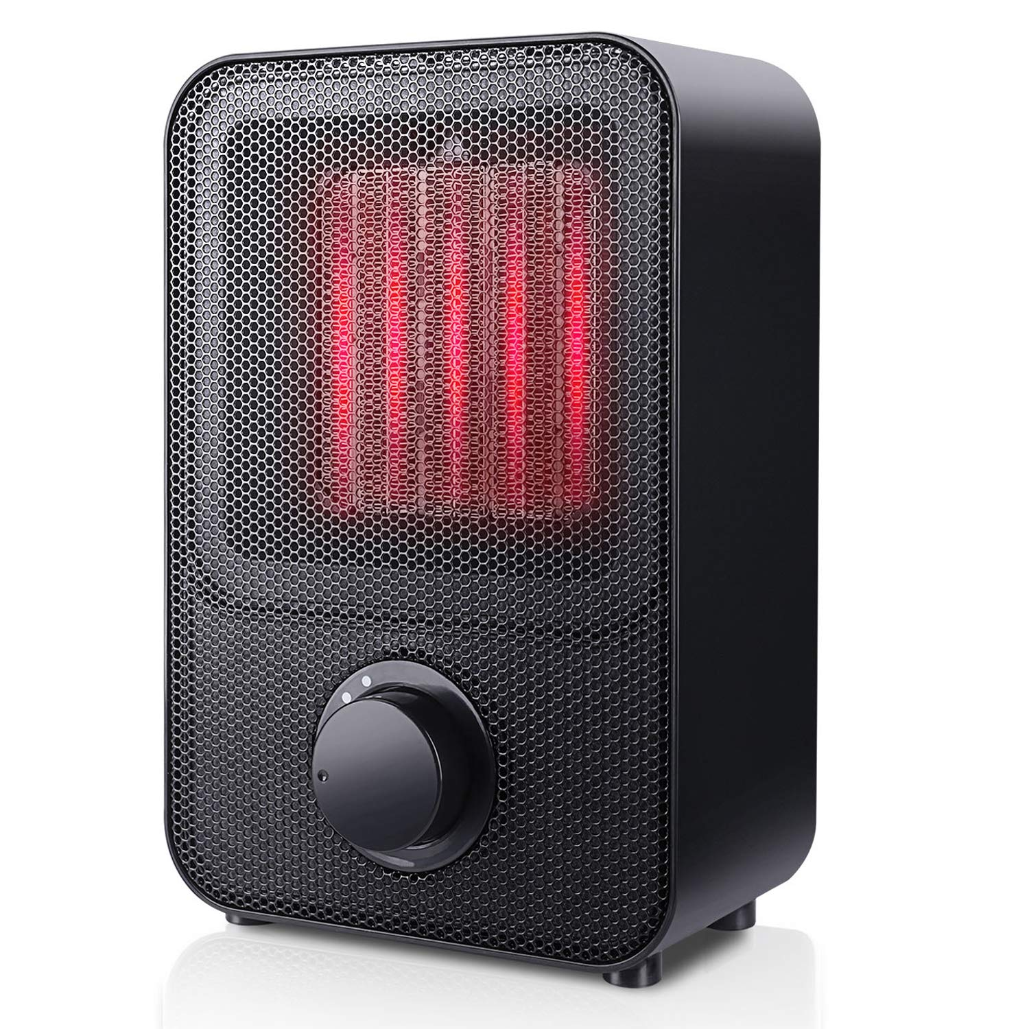 SUNPOLLO Ceramic Space Heater,1500W Small/Mini Personal Electric PTC Heater for Room Office Floor Under Desk, Over-Heat Protection and Tip-Over Protection, ETL Safety