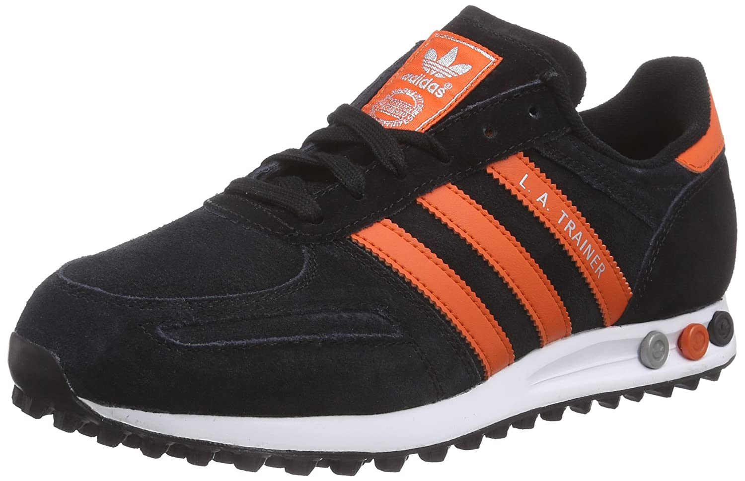 Adidas LA Trainer - Zapatillas para Hombre 42 EU|Core Black/Collegiate Orange/Metallic Silver-sld