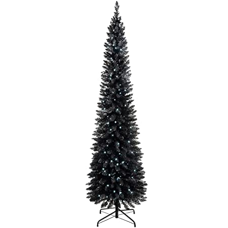 Werchristmas Pre Lit Pencil Christmas Tree With 180 Led Lights 65