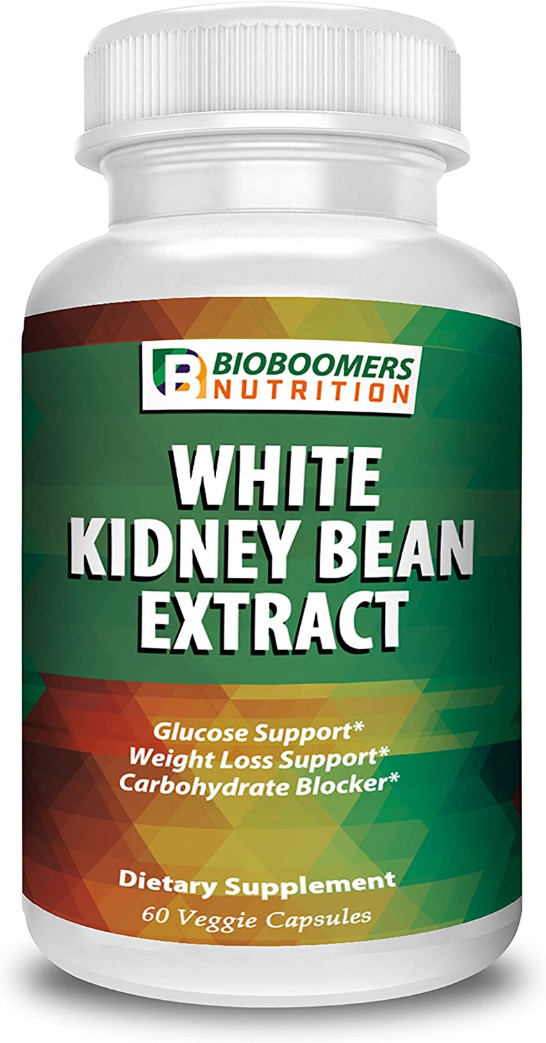 White Kidney Bean Extract 1200mg - 60 Non-GMO Veggie Capsules | Weight Loss Nutritional Supplement