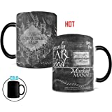 Morphing Mugs Harry Potter Hogwarts Magical Marauder's Map Heat Reveal Ceramic Coffee Mug - 11 Ounce (Black and White Reveal)