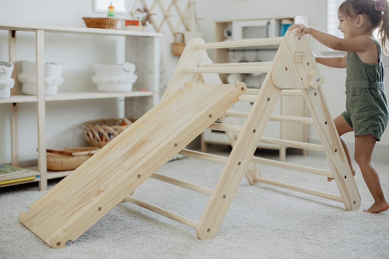 JOEY CO. Montessori Toys Climbing Triangle with Ramp