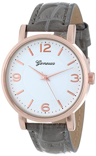 Reloj MujeresAmazon Geneva Gen Para esRelojes 2363 Grey YWD9eEH2I