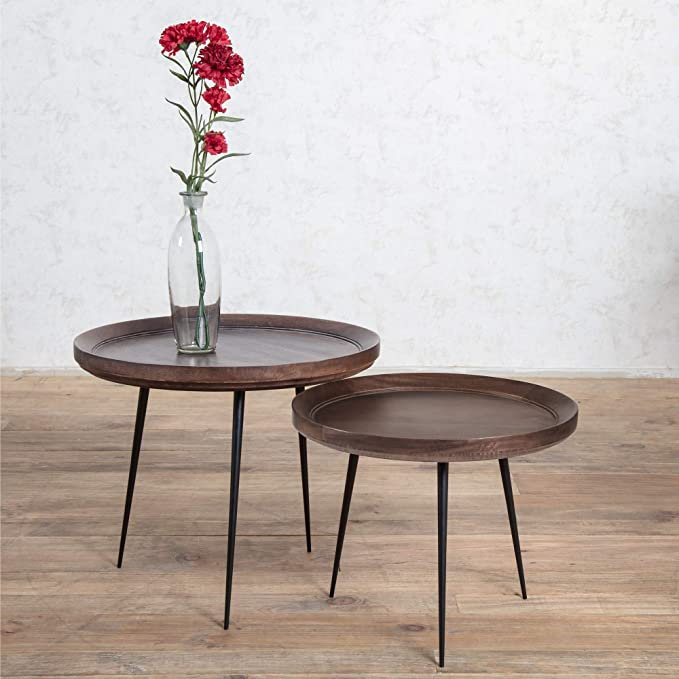 Amazon.com: Girona Round Side Table Large | Elegant End ...