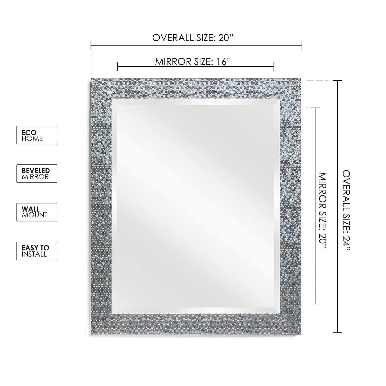 Amazon.com: Wall Beveled Mirror Framed - Bedroom or Bathroom ...