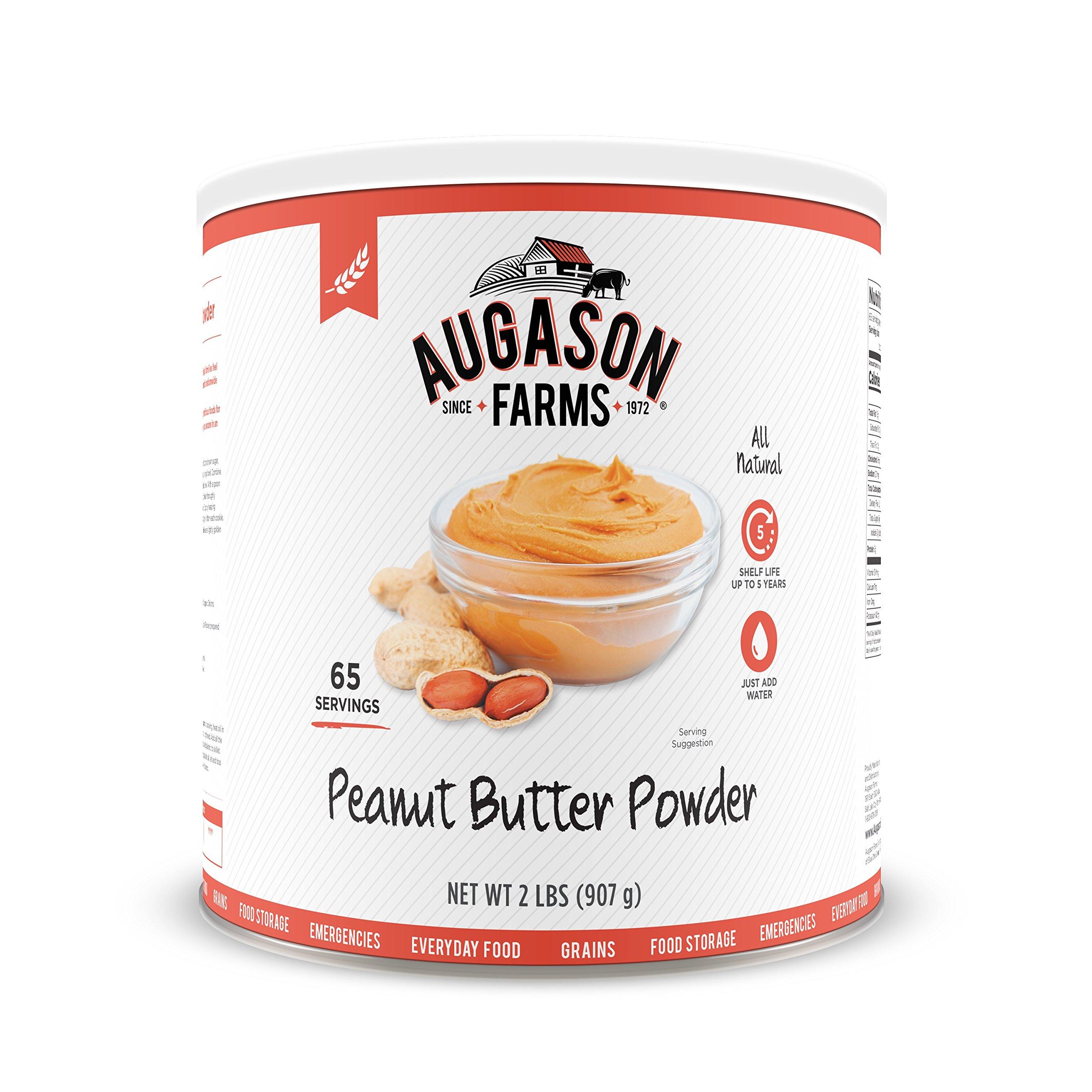 Augason Farms Peanut Butter Powder 2 lbs No. 10 Can by Augason Farms (Image #1)