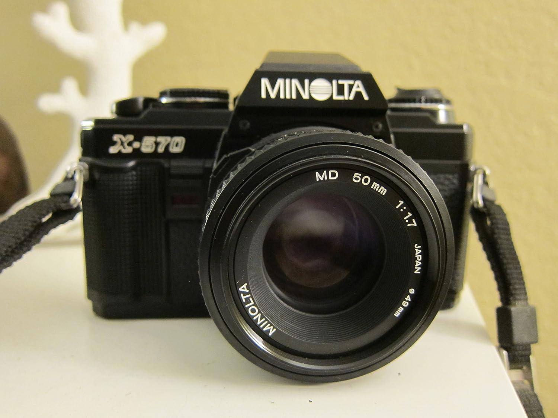 Minolta X-570 35mm Manual Focus Film Camera With A 50mm f/1.7 Lens