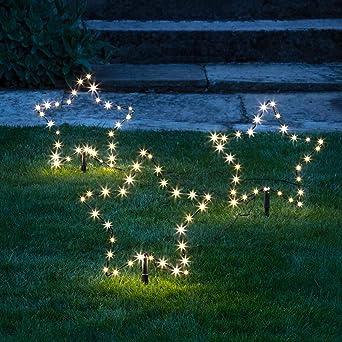 Lights4fun Set Of 3 Christmas Osby Star Garden Decoration Stake Lights Outdoor Use Plug In Amazon Co Uk Lighting