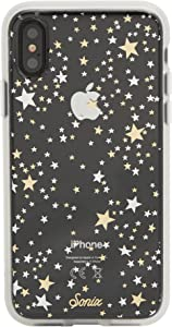 Sonix Starry Night Case for iPhone X/Xs [Drop Test Certified] Protective Gold Silver Stars Clear Case for Apple iPhone X, iPhone XS