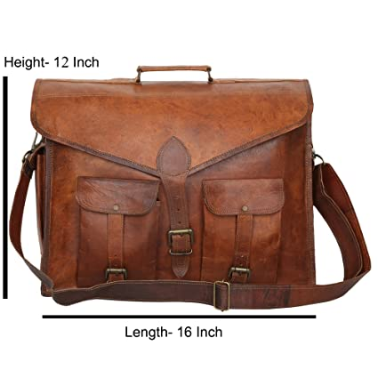 Image Unavailable. Image not available for. Color  Handcraft  quot World  War-3 quot  Genuine Leather Vintage Look Laptop Messenger Bag 16 3dc43af66ce30
