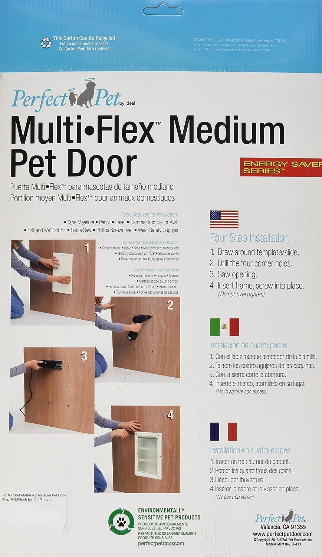 Amazon.com : Perfect Pet Multi-Flex Pet Door, Medium, 6.38