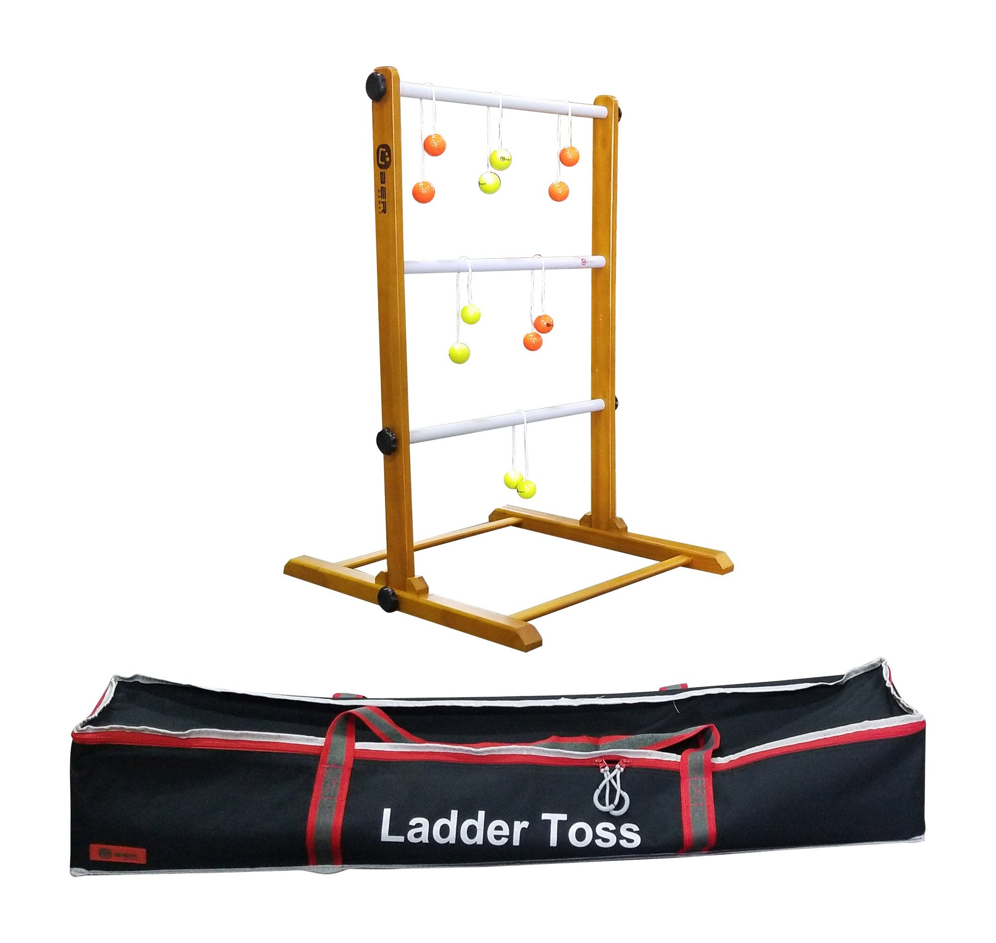 Uber Games Ladder Toss - Single Game - Yellow and Orange Bolas