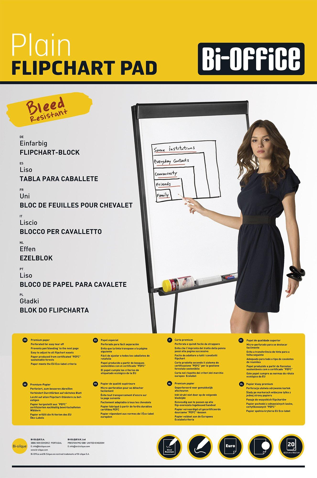 Bi-Silque FL039403Bi-Office Flipchartblöcke