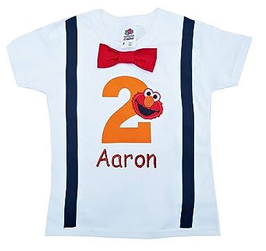 2nd Birthday Shirt Boys Orange Elmo Tee