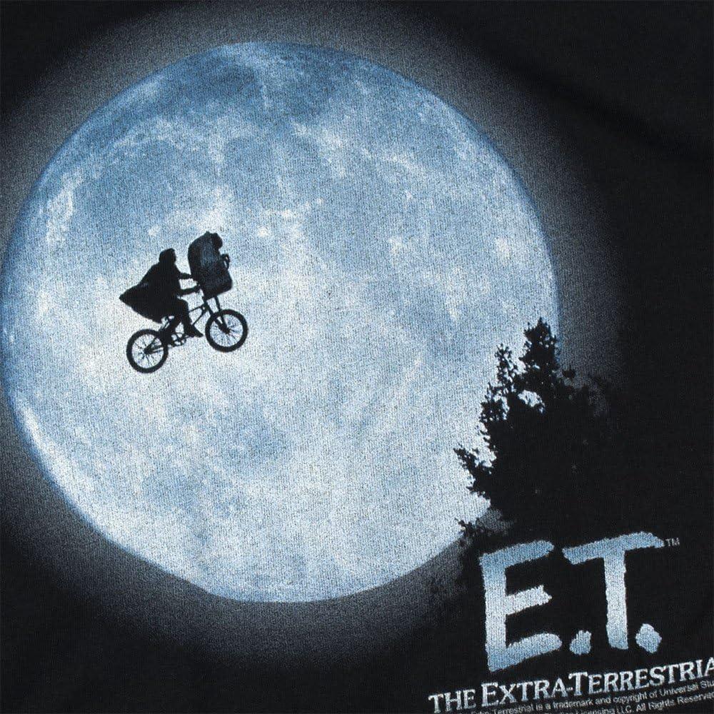 E.T. Camisa y pegatinas de bicicleta voladora por la luna - Negro - 3X-Large: Amazon.es: Ropa y accesorios