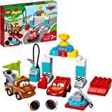 LEGO DUPLO Disney and Pixar Cars Lightning McQueen's Race Day 10924 Toddler Toy with Lightning McQueen and Mater; Great Gift