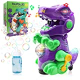 Tociney Dinosaur Bubble Machine for Kids Toddlers - Dino Automatic Bubble Blower - Running Bubble Maker with Music and Lights