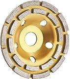 Disco de plato AGT ProfessionalPlato diamantado para amoladora angular, doble fila de anillos, 125mm (plato de lijado).