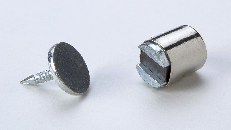 Durchmesser 11mm 1 Magnetverschluss Schrankverschluss Metall verchromt mit Magnet