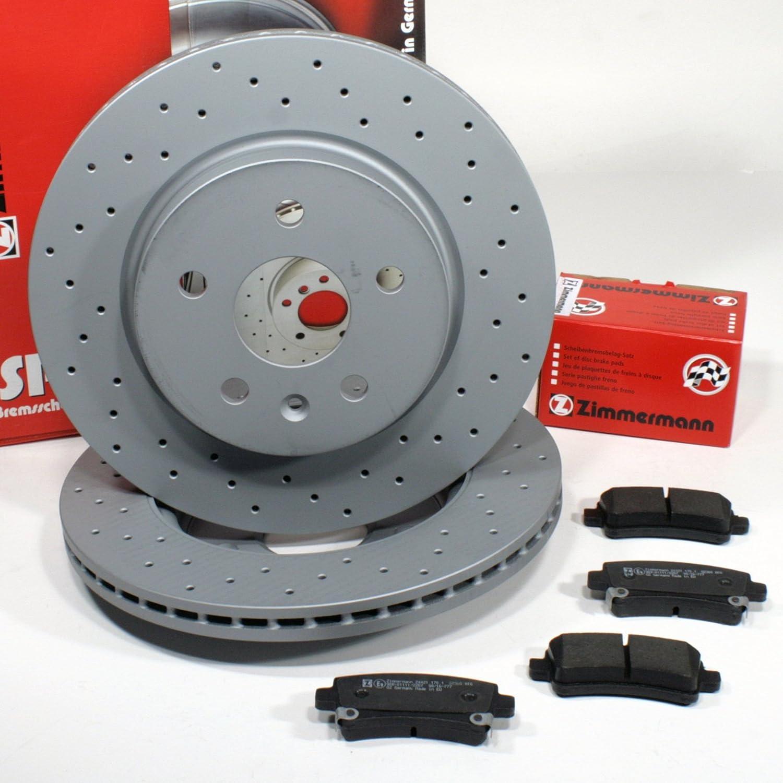 Zimmermann Bremsscheiben 300 mm bel/üftet Bremsen Bremsbel/äge Warnkabel f/ür hinten//die Hinterachse