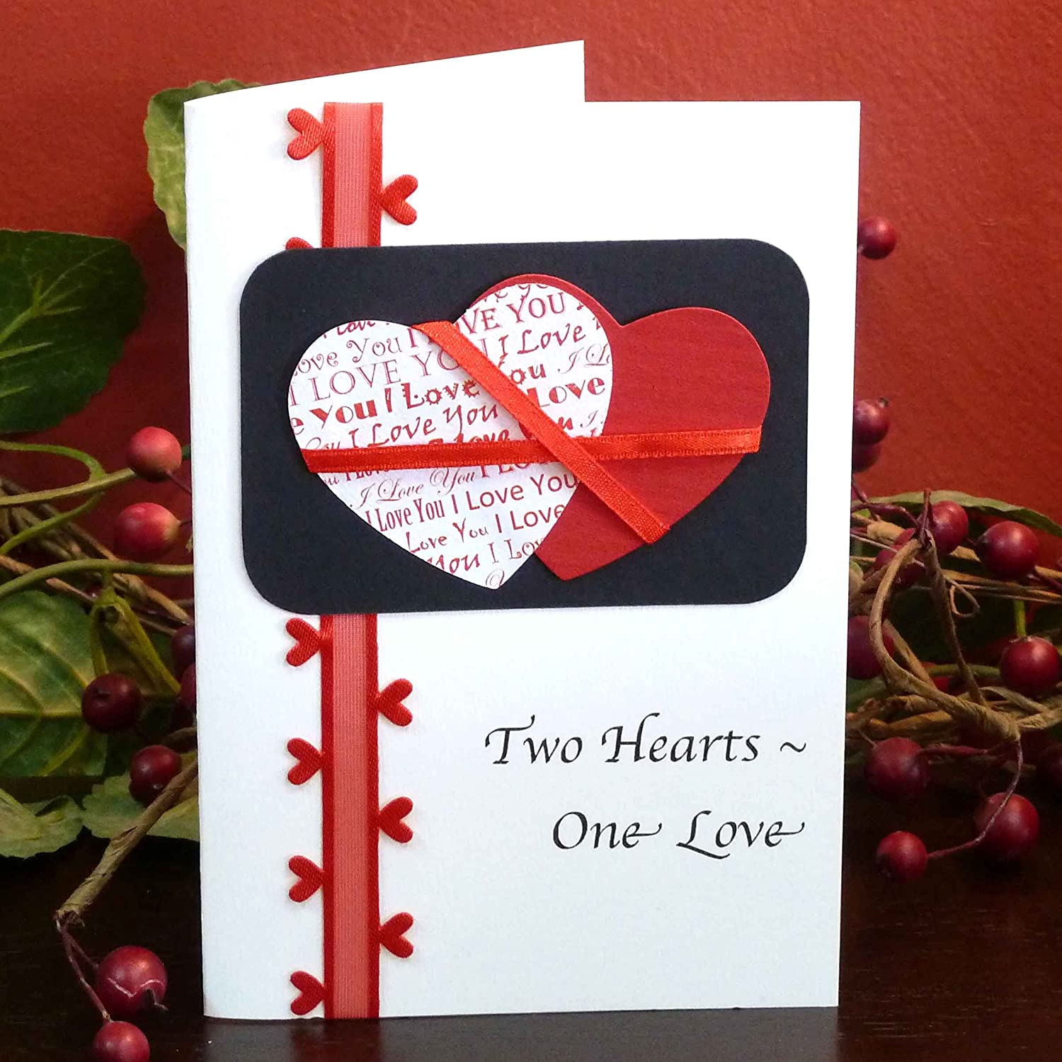 Amazon two hearts one love card fair trade handmade amazon two hearts one love card fair trade handmade health personal care kristyandbryce Choice Image