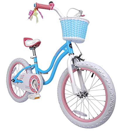 3f3574c588e6 Royalbaby Stargirl Girl's Bike with Training Wheels and Basket, Perfect  Gift for Kids. 12
