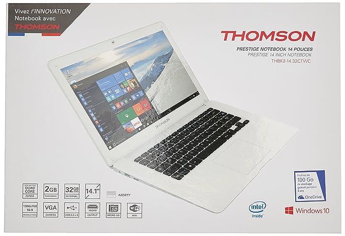 Thomson thbk2 - 14.32 CTW ordenador portátil no táctil 14,1 gris (Intel, 2 GB de RAM, SSD de 32 Go, Windows 10): Amazon.es: Informática