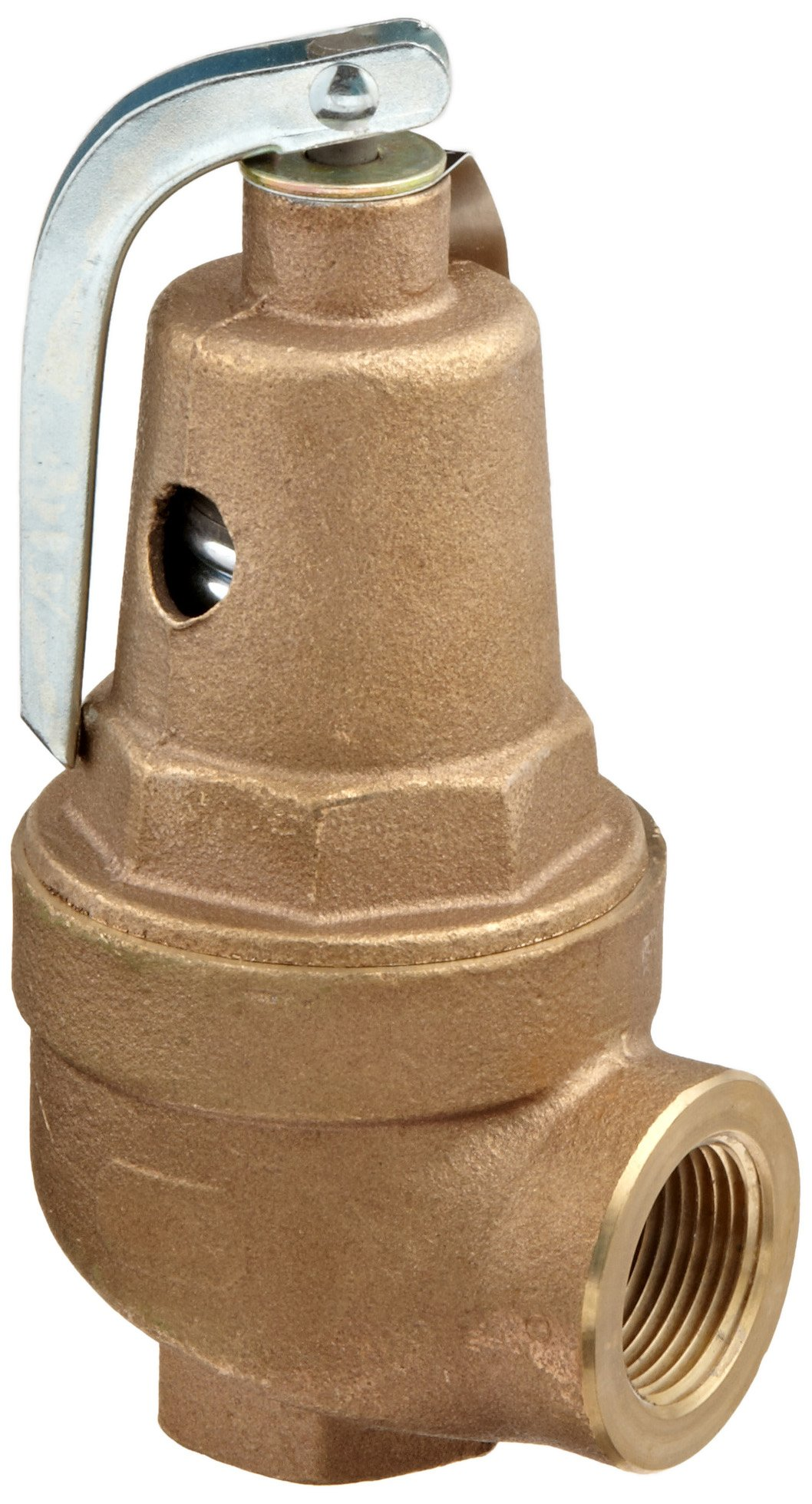 Apollo Valve 10-600 Series Bronze Safety Relief Valve, ASME Hot Water, 125 psi Set Pressure, 1'' NPT Female