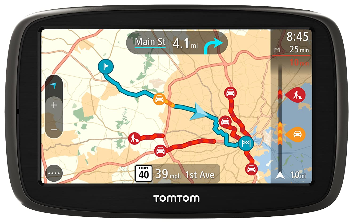 Amazoncom TomTom GO  S Portable Vehicle GPS Cell Phones - Tomtom xl usa canada map